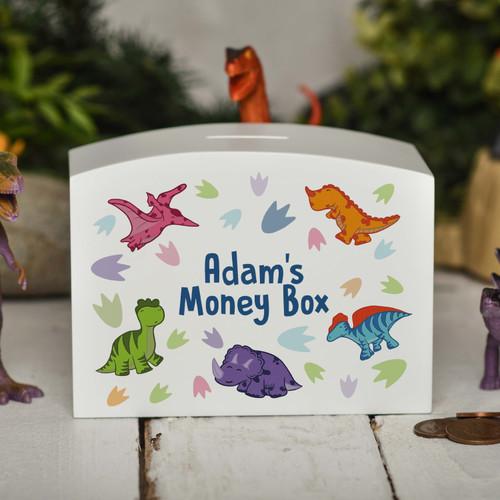 Personalised Dinosaur Money Box - The Crafty Giraffe