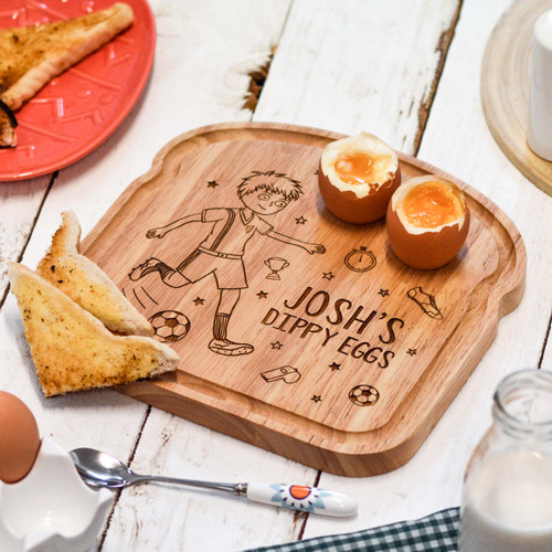 Personalised Breakfast Egg Board - Football