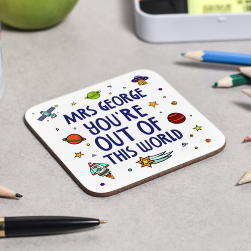 Personalised You're out of this world coaster - The Crafty Giraffe