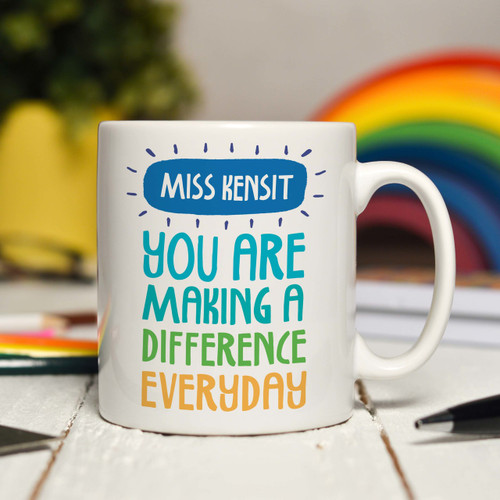 Personalised You are making a difference every day Mug - The Crafty Giraffe