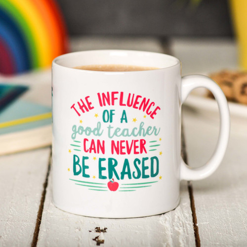 Buy Personalised The influence of a good teacher can never be erased Mug From The Crafty Giraffe, the home of unique and affordable gifts for loved ones...