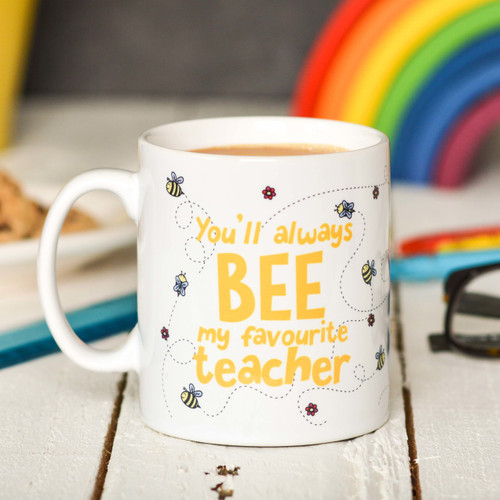 Buy Personalised You'll always bee my favourite teacher Mug From The Crafty Giraffe, the home of unique and affordable gifts for loved ones...