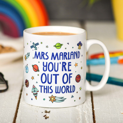 Buy Personalised You're out of this world Mug From The Crafty Giraffe, the home of unique and affordable gifts for loved ones...