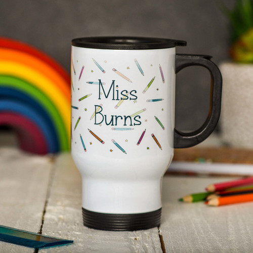 Buy Personalised Pencil Travel Mug From The Crafty Giraffe, the home of unique and affordable gifts for loved ones...