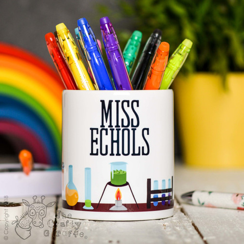 Personalised Science Pencil Pot