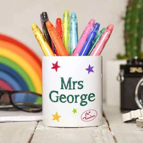Personalised Teacher Pencil Pot - The Crafty Giraffe