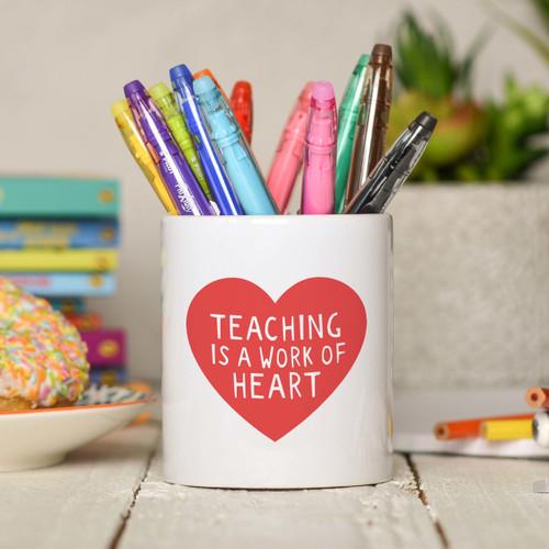 Teaching is a work of heart Pencil Pot - The Crafty Giraffe