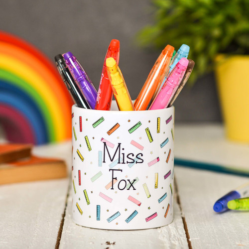 Buy Personalised Ruler Pencil Pot From The Crafty Giraffe, the home of unique and affordable gifts for loved ones...