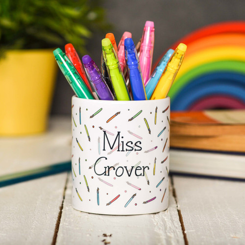 Buy Personalised Paintbrush Pencil Pot From The Crafty Giraffe, the home of unique and affordable gifts for loved ones...