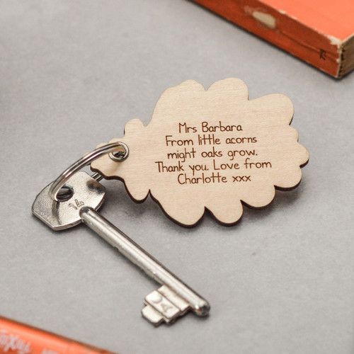 Buy Personalised Plain Oak Leaf Keyring From The Crafty Giraffe, the home of unique and affordable gifts for loved ones...