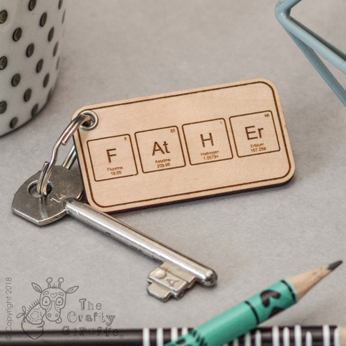 'Father' Periodic table Keyring