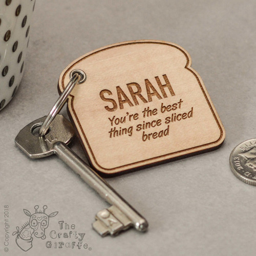 Personalised Sliced Bread Keyring