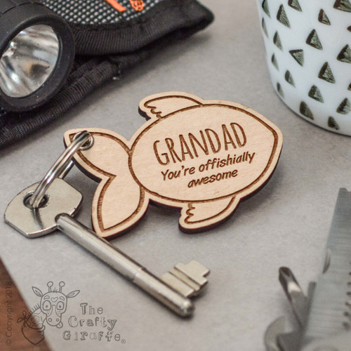 Personalised Fish Keyring - The Crafty Giraffe