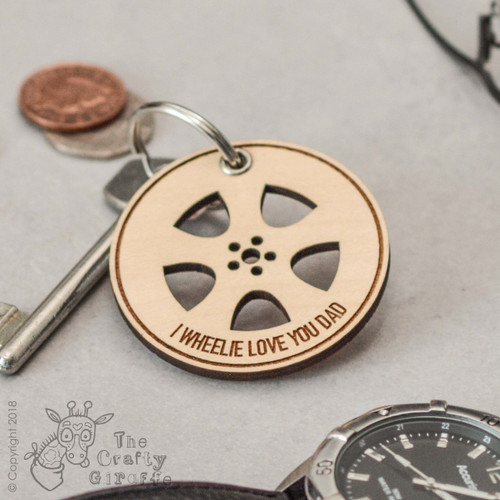 Personalised Wheel Keyring