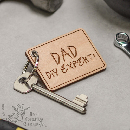 Personalised DIY Expert Keyring - The Crafty Giraffe
