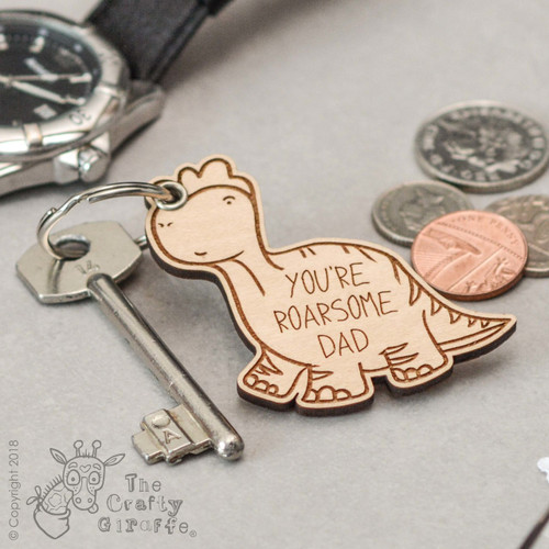 Buy Personalised Dinosaur Keyring From The Crafty Giraffe, the home of unique and affordable gifts for loved ones...