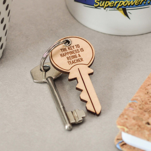 Buy Personalised Key Teacher Keyring From The Crafty Giraffe, the home of unique and affordable gifts for loved ones...