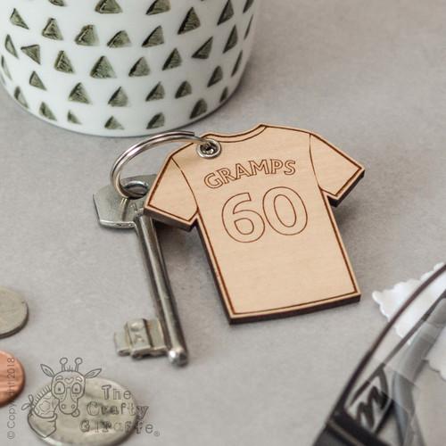Personalised Football Shirt Keyring