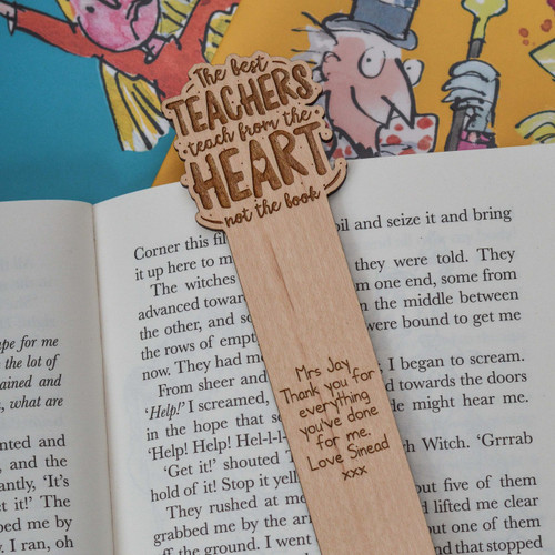 Personalised The best teachers teach from the heart Bookmark