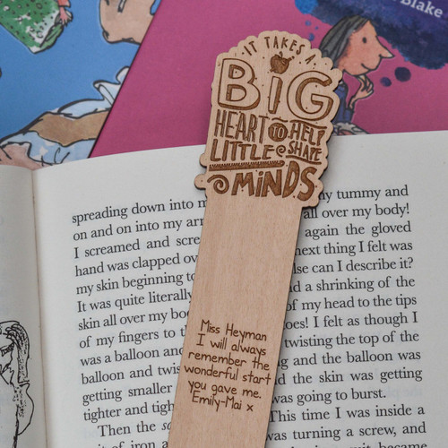 Personalised It takes a big heart Bookmark