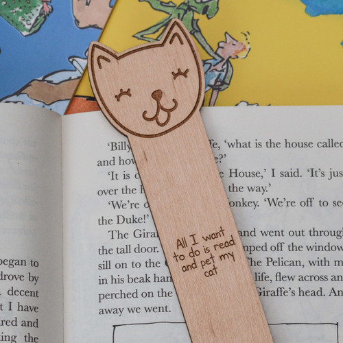 Buy Personalised Cat Bookmark From The Crafty Giraffe, the home of unique and affordable gifts for loved ones...