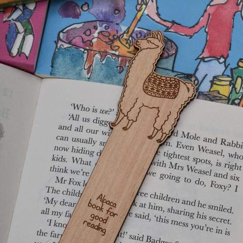 Personalised Llama Bookmark