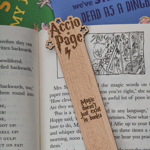 Buy Personalised Accio Page Bookmark From The Crafty Giraffe, the home of unique and affordable gifts for loved ones...