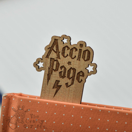 Personalised Accio Page Bookmark