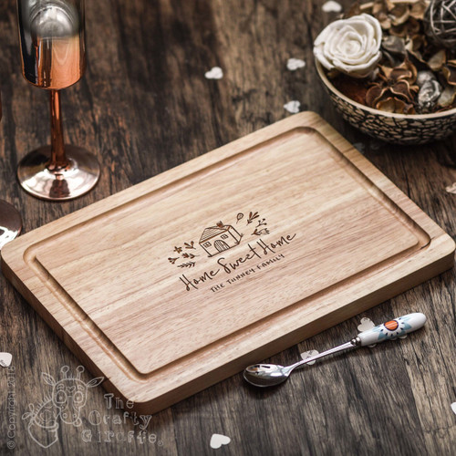 Buy Personalised Home Sweet Home Board From The Crafty Giraffe, the home of unique and affordable gifts for loved ones...