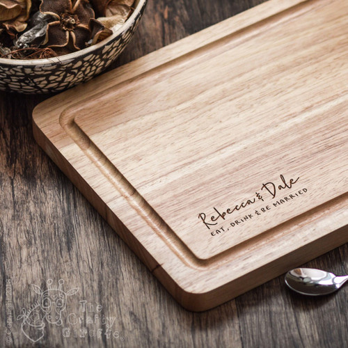 Personalised Eat Drink and Be Married Board - The Crafty Giraffe