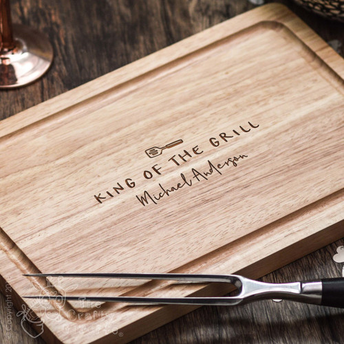 Buy Personalised King of the Grill Board From The Crafty Giraffe, the home of unique and affordable gifts for loved ones...