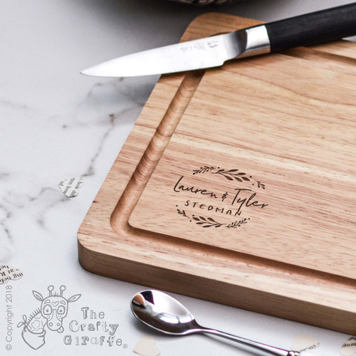 Buy Personalised Botanic Couples Board From The Crafty Giraffe, the home of unique and affordable gifts for loved ones...