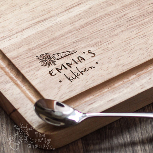 Personalised Kitchen - Carrot Board - The Crafty Giraffe