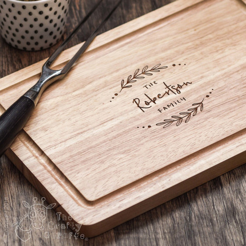 Buy Personalised Laurel Family Board From The Crafty Giraffe, the home of unique and affordable gifts for loved ones...