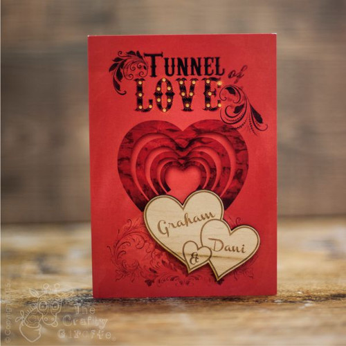 Personalised Tunnel of love Card Twin Heart Magnet - The Crafty Giraffe