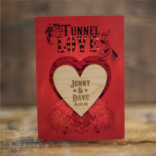 Personalised Tunnel of love Card Single Heart Magnet - The Crafty Giraffe