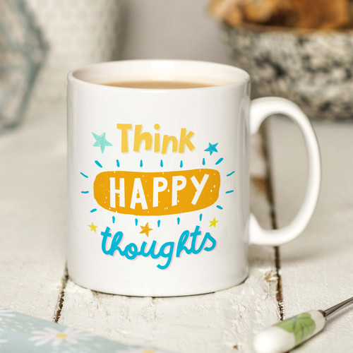 Think happy thoughts Mug - The Crafty Giraffe