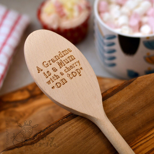 """Personalised """"Cherry on top"""" Spoon"""