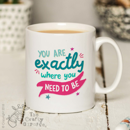 You are exactly where you need to be Mug