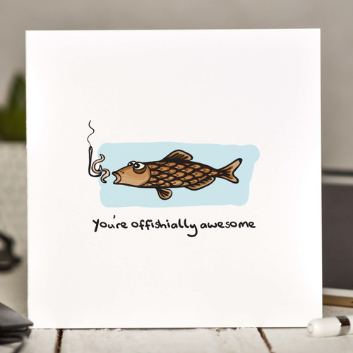 Buy You're offishially awesome Card From The Crafty Giraffe, the home of unique and affordable gifts for loved ones...