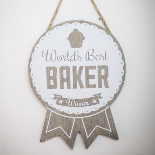 Buy Wooden World's Best Baker Winner Rosette From The Crafty Giraffe, the home of unique and affordable gifts for loved ones...