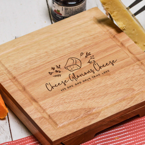 Buy Personalised Glorious Cheese Cheeseboard with Knives From The Crafty Giraffe, the home of unique and affordable gifts for loved ones...