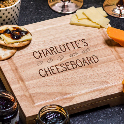 Buy Personalised Cheeseboard with Knives From The Crafty Giraffe, the home of unique and affordable gifts for loved ones...