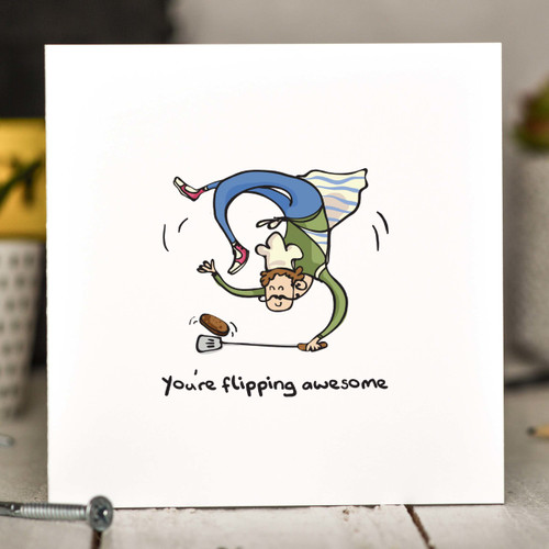 Buy You're flipping awesome BBQ Card From The Crafty Giraffe, the home of unique and affordable gifts for loved ones...