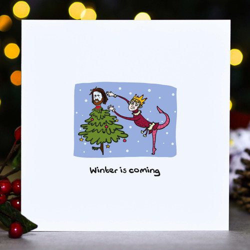 Buy Winter is coming - Ned GOT Christmas Card From The Crafty Giraffe, the home of unique and affordable gifts for loved ones...