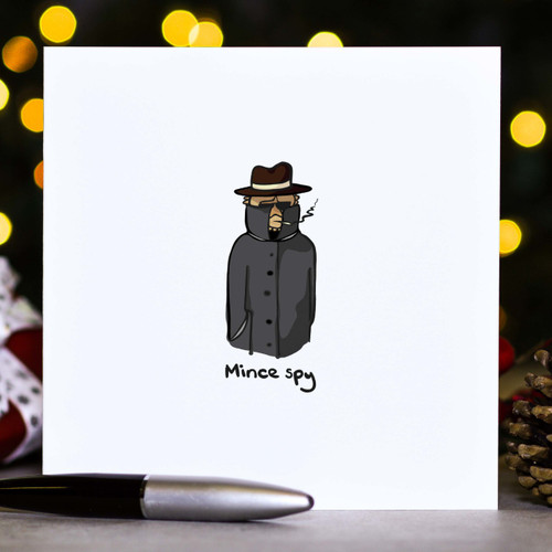 Buy Mince spy - Christmas Card From The Crafty Giraffe, the home of unique and affordable gifts for loved ones...