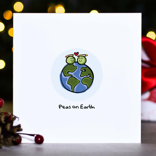 Buy Peas on earth Christmas Card From The Crafty Giraffe, the home of unique and affordable gifts for loved ones...