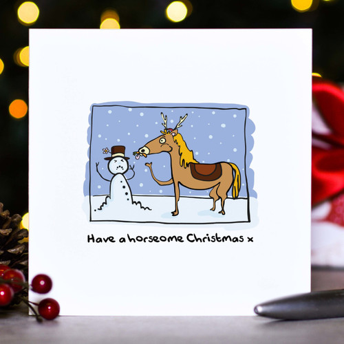 Buy Have a horseome Christmas Card From The Crafty Giraffe, the home of unique and affordable gifts for loved ones...