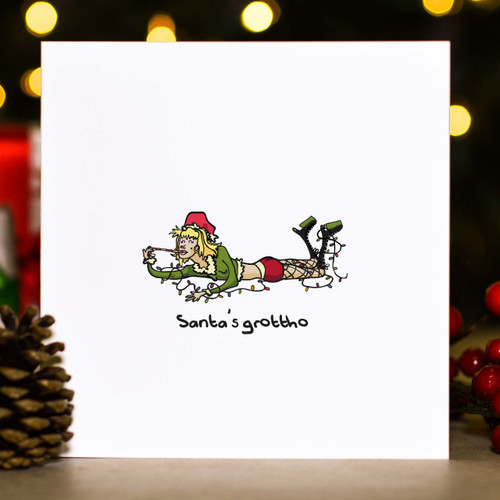 Buy Santa's grottho Christmas Card From The Crafty Giraffe, the home of unique and affordable gifts for loved ones...