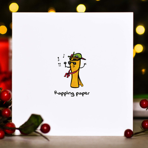 Buy Rapping paper Christmas Card From The Crafty Giraffe, the home of unique and affordable gifts for loved ones...